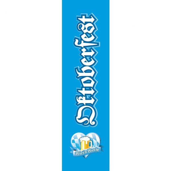 Banner Oktoberfest, weiß-blau