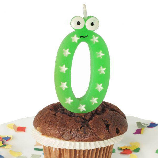 Geburtstags-Zahlenkerze mit Augen