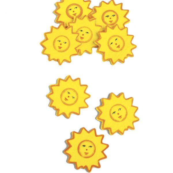 Streudeko Holz Konfetti Sonne Gelb