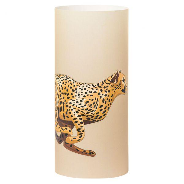 Windlicht Gepard, sanddunkel
