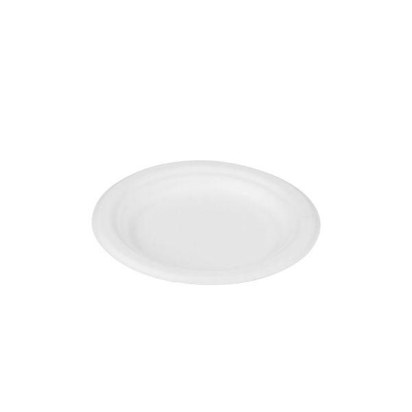 Zuckerrohr Teller rund Ø 15 x 1,7 cm, weiß