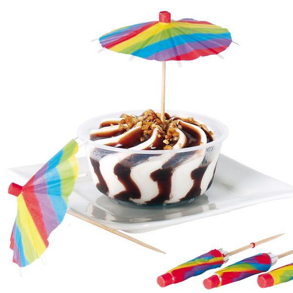 Party-Picker Eisschirmchen, regenbogen