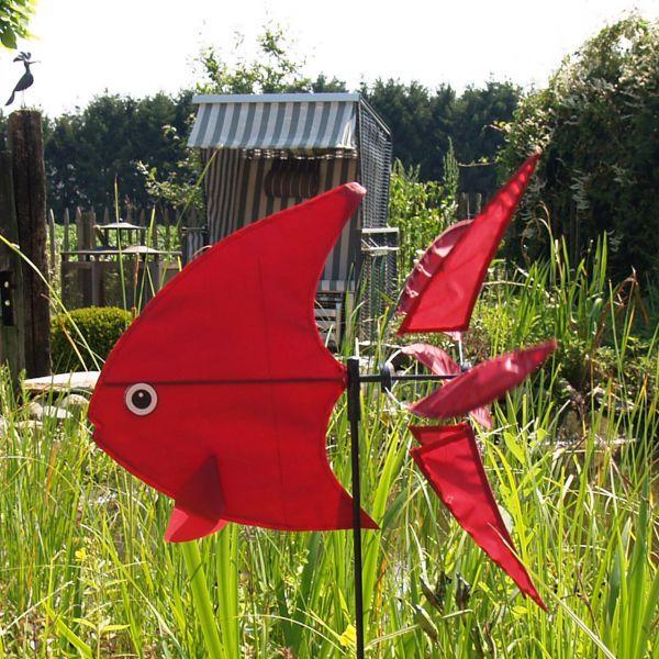 Windspiel Fisch, bordeaux