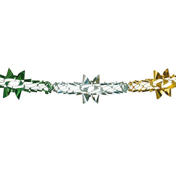 Foliengirlande, grün-silber-gold