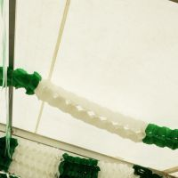 Maxi Girlande, 27 x 20cm, 10m, grün-weiß