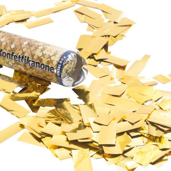 Konfetti-Kanone, Folienstreifen gold-metallic