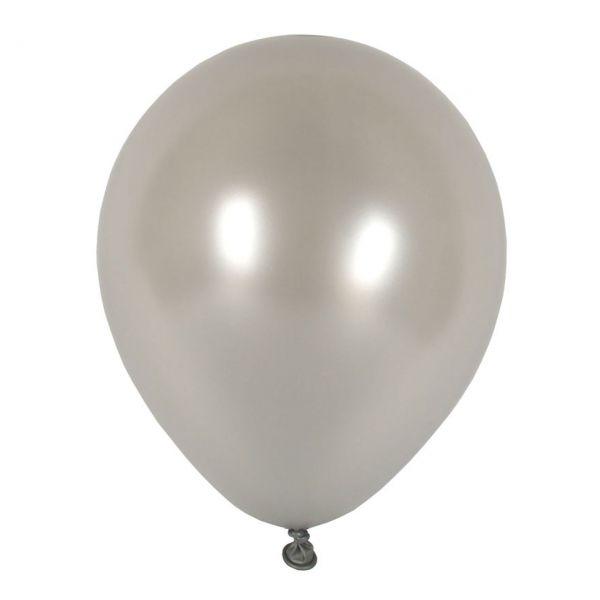 Luftballons metallic, silber