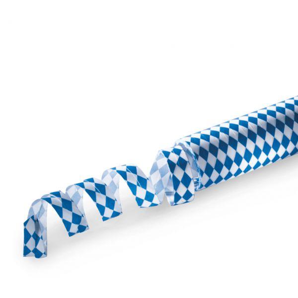 Luftschlangen Bayernraute, weiß-blau