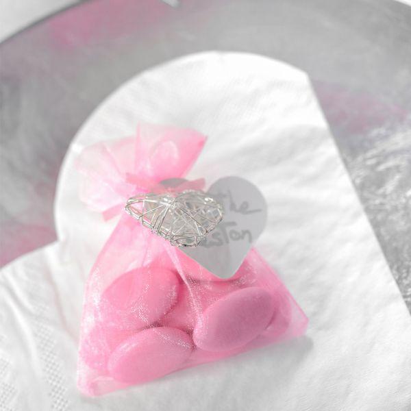 Gastgeschenk Organza-Säckchen, pink