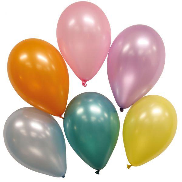 Luftballons metallic, bunte Mischung