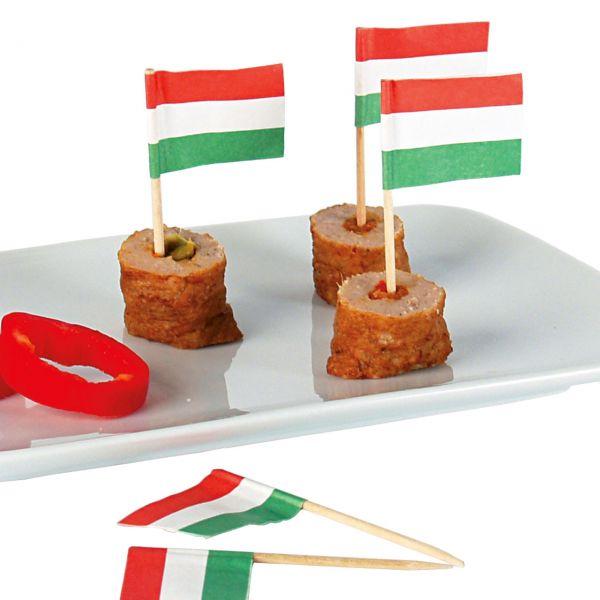 Deko-Picker Flagge Ungarn, rot-weiß-grün