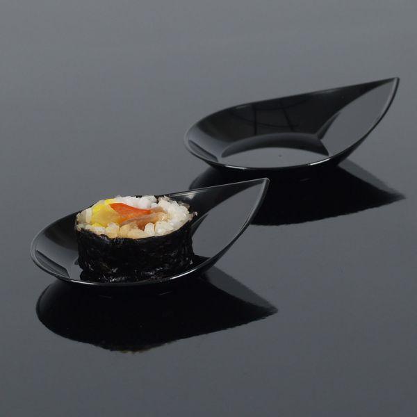 Fingerfood Buffet-Minischale, Tropfen, schwarz