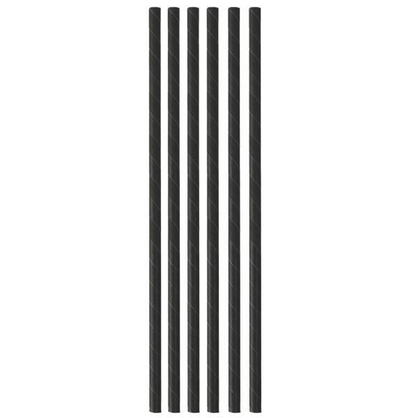 Papier Trinkhalm Cocktail 0,8 x 15 cm, schwarz