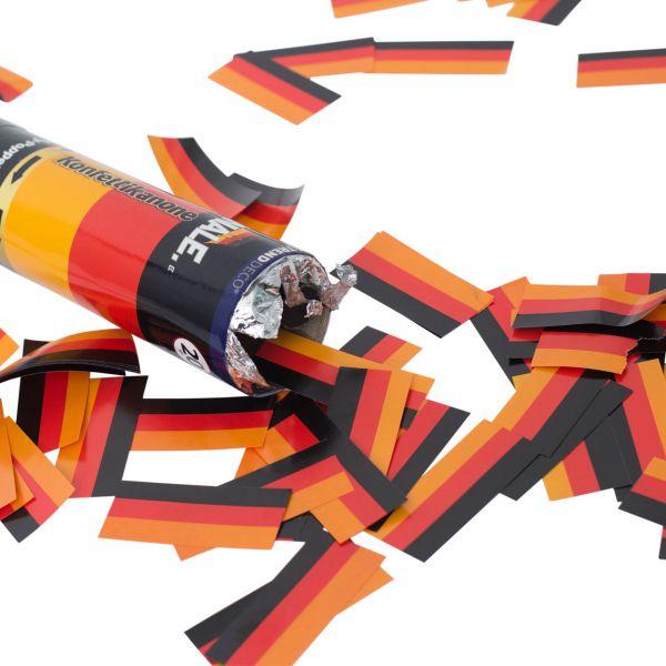 Konfetti-Kanone, Papierstreifen Deutschland, schwarz-rot-gold