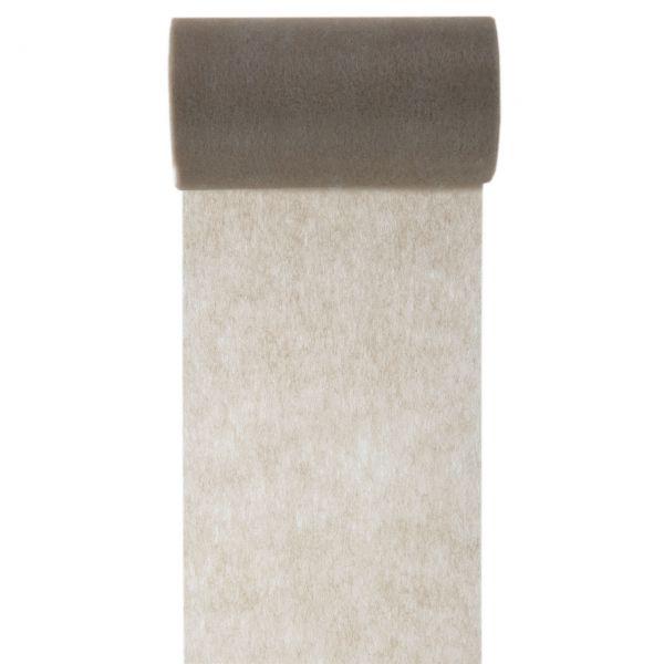 Tisch- und Schleifenband, B: 10cm, taupe