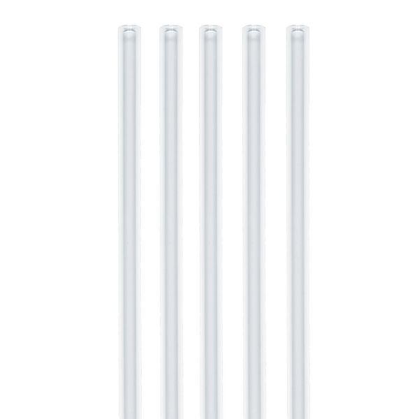 Glas Trinkhalme Jumbo 0,8 x 24cm, Großpackung 50 Stk.