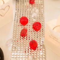 Deko-Diamanten, Ø 3cm, rot-klar