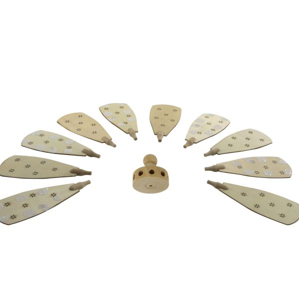 Weihnachts-Pyramiden Rotor und 11 Flügel mit Schnee