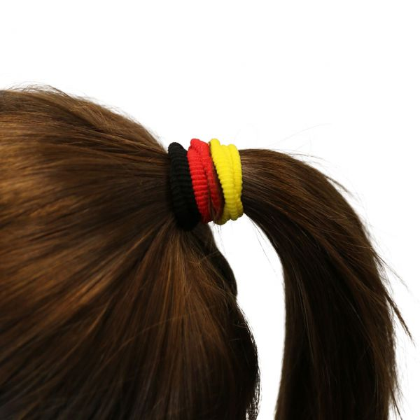 Haargummi Deutschland, schwarz-rot-gold