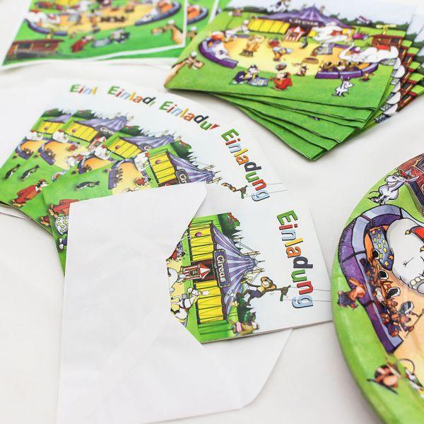 Einladungskarten Zirkus, bunt
