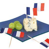 Party-Picker Flagge Frankreich, weiß-blau-rot, Le Tricolore 50 Stück