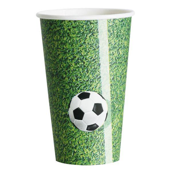 Kunststoff Trinkbecher Fußballrasen 300ml, grün-weiß