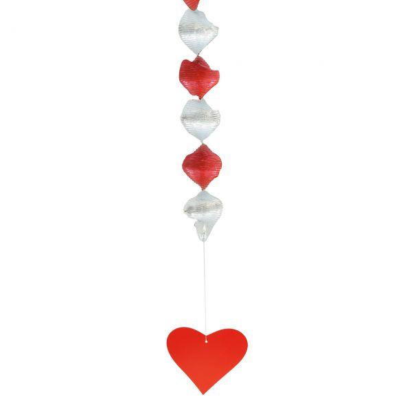 Rotorspiralen Herz, rot-silber