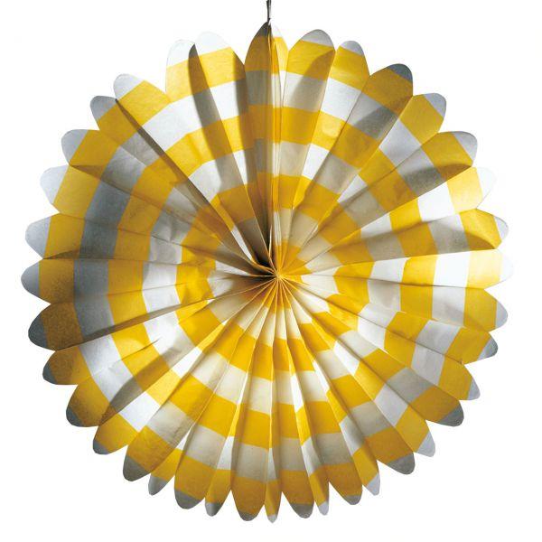 Party-Deko-Fächer, gelb-weiß