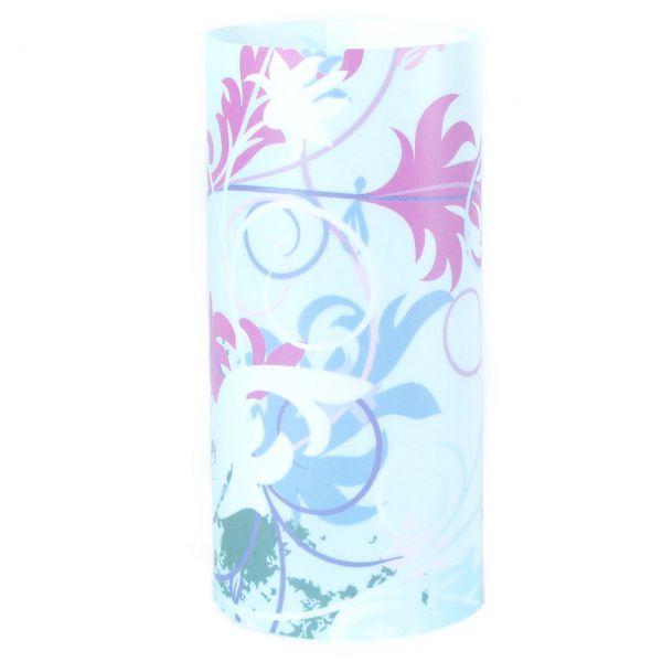 Windlicht Blumenwiese, blau