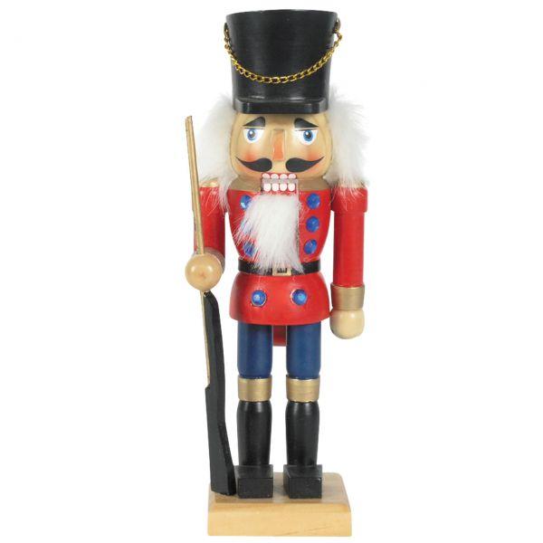 Nussknacker Soldat 25cm, rot-blau