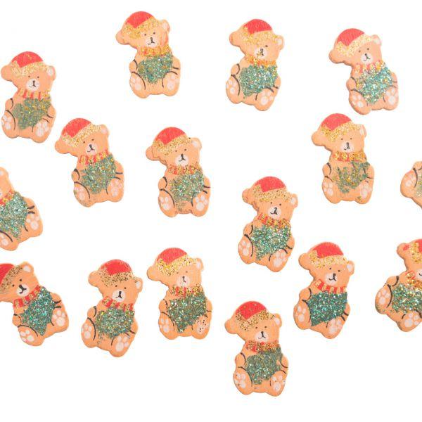 Streudeko Tischkonfetti Weihnachts-Bären, Holz