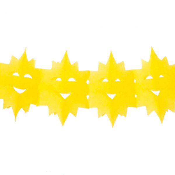 Girlande Sonne wetterfest, gelb