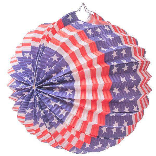 Lampion USA, blau-rot-weiß