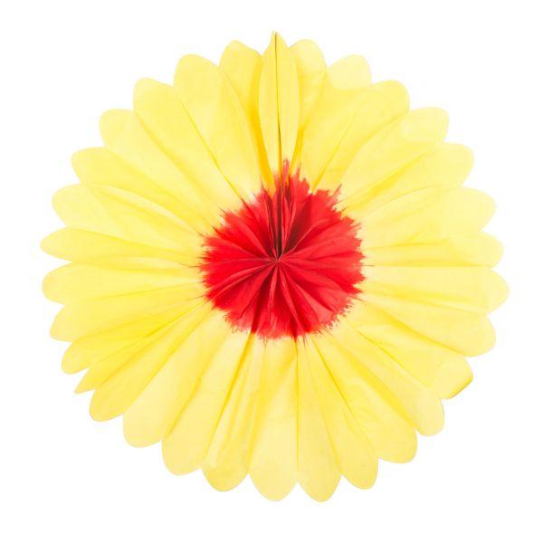 Deko-Fächer Blume, rot-gelb