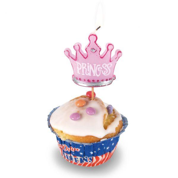 Kerzen Krone Prinzessin, pink