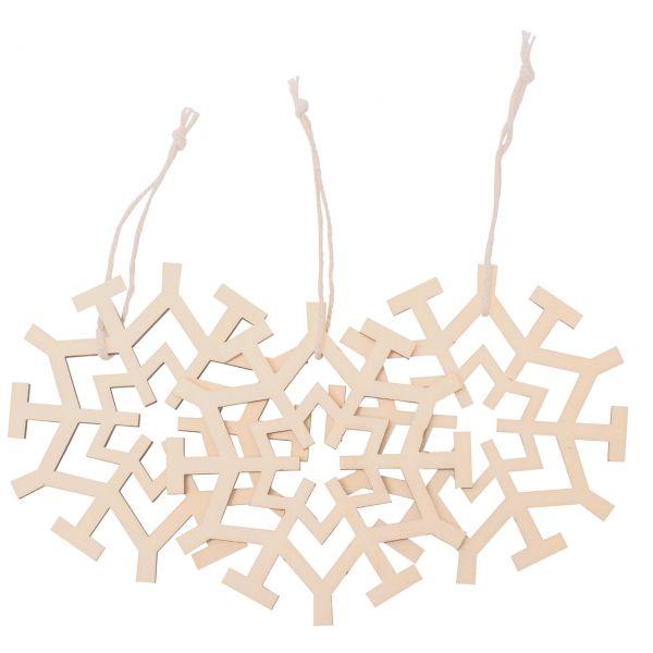 Anhänger Schneeflocken, Holz G