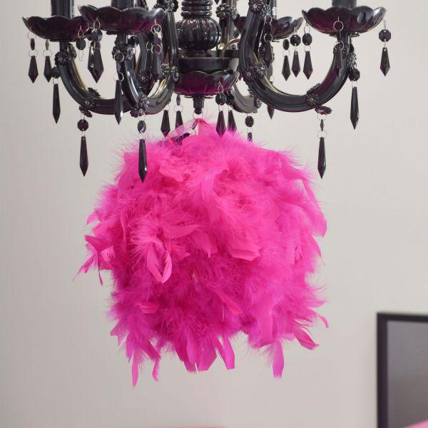 Raumdeko Federkugel, pink