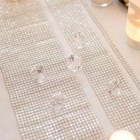 Diamanten-Dekoband, Strasssteine silber-glitzernd 1 x 450 cm