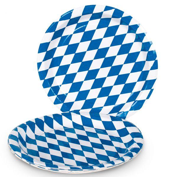 Pappteller bayern wei blau Pappteller blau