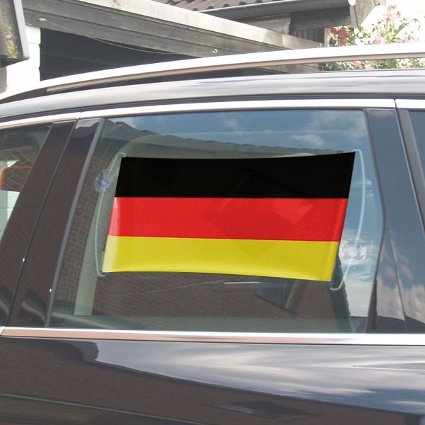 Rollbanner inkl. Saugnäpfen, Deutschland, schwarz-rot-gold