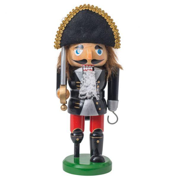 Nussknacker Pirat 25cm, schwarz