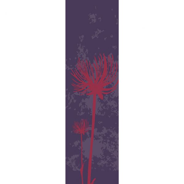 Banner Pusteblume wetterfest, blau-bordeaux