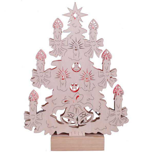 Weihnachts-Fensterdekoration Tannenbaum Glocken LED
