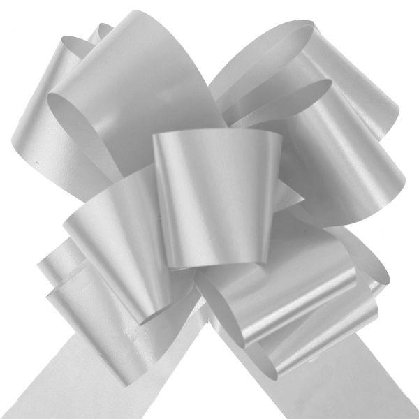 Automatik Ziehschleife XL, glänzend, grau