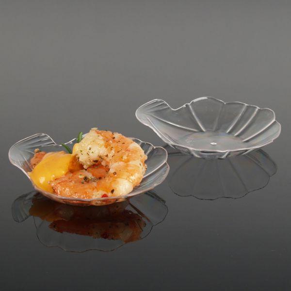 Fingerfood Buffet-Minischale, Muschel, transparent
