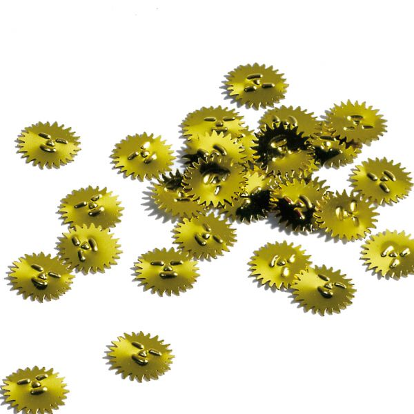 Konfetti Sonne, gelb