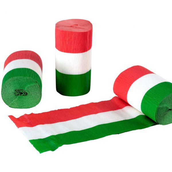 Kreppband, grün-weiß-rot