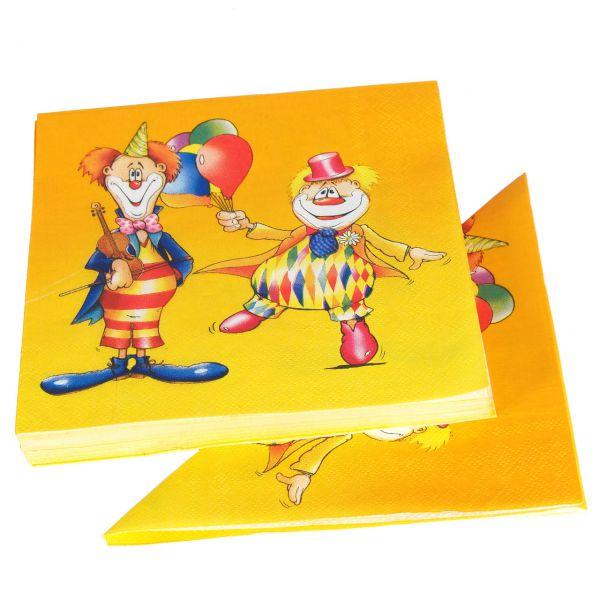 Servietten Clown, bunt