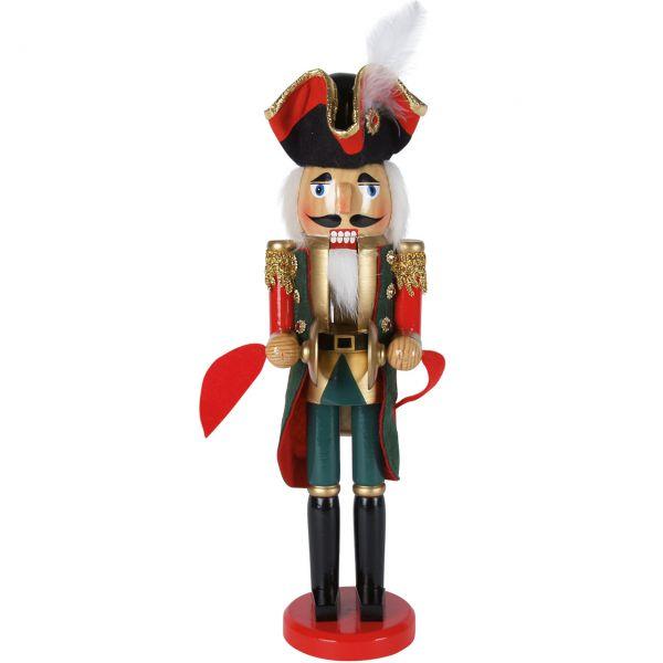 Nussknacker Soldat 38cm, grün-rot