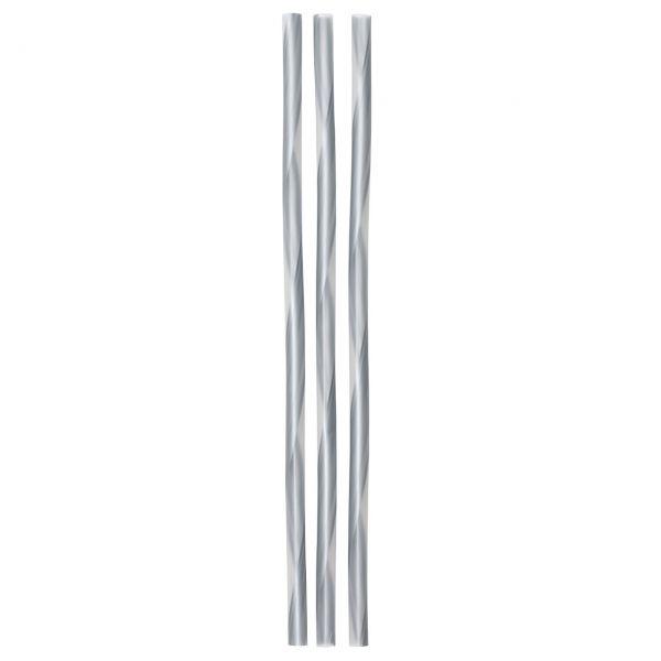 Jumbo Strohhalme, silber-transparent